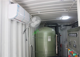 FRP Containerized Water Treatment Plant , Mobile Containerized Desalination Plants
