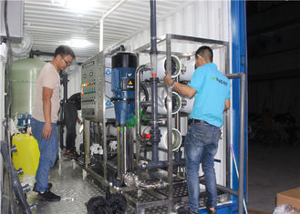 Portable Containerized Water Treatment Plant , Mobile Ro Water Plant Machine